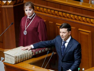 Ukraine's new president hits out at corruption as he takes power