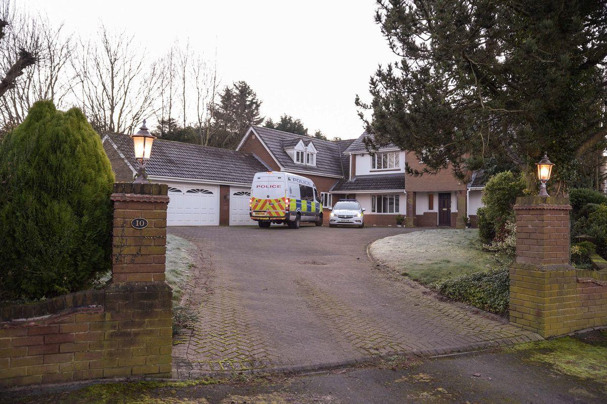 Police at the scene in Trehernes Drive, Pedmore. Photo: Snapper SK