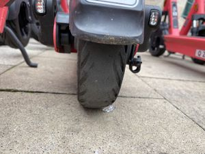 One of the scooter tyres in Birmingham. Photo: Sarah Gayton