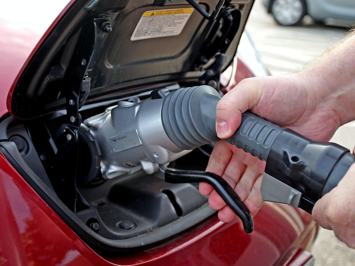 Electric Car stock