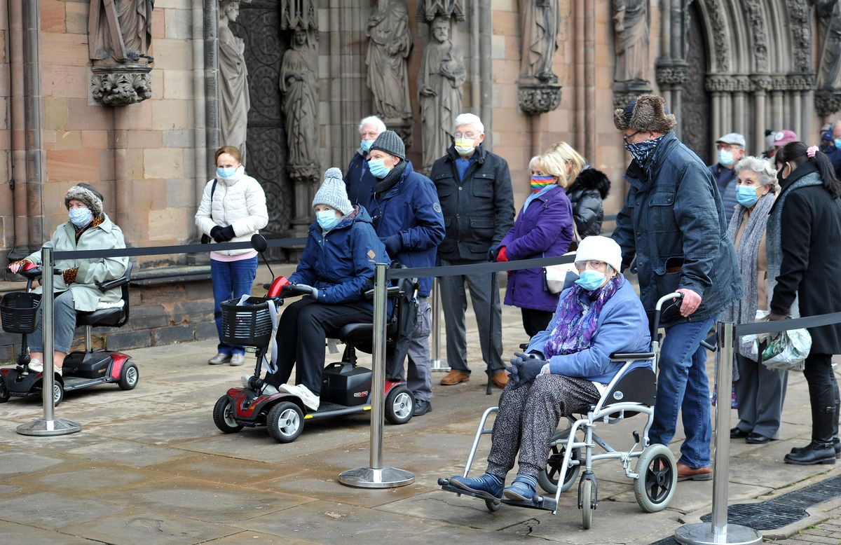 Covid vaccinations begin at Lichfield Cathedral