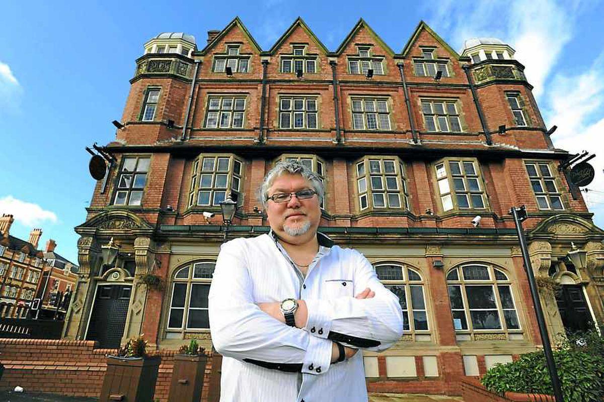 City inspiration – writer Simon Golding outside the pub