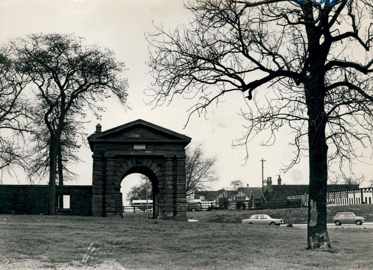 Arch Lodge, former entrance to Sandwell Hall, 1970.