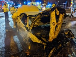 Driver flees as two cars wrecked and temple wall damaged in A449 crash