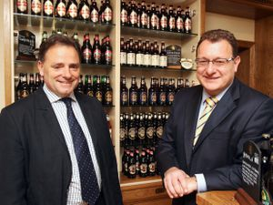Marston's PLC announce their Interim Results Picture Shows (L-R) Ralph Findlay, Chief Executive and Andrew Andrea, Finance Director. Mandatory credit: VisMedia +44 (0)20 7613 2555