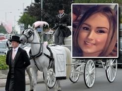 Convoy of bikers leads funeral procession for crash victim Charlie Burgoyne