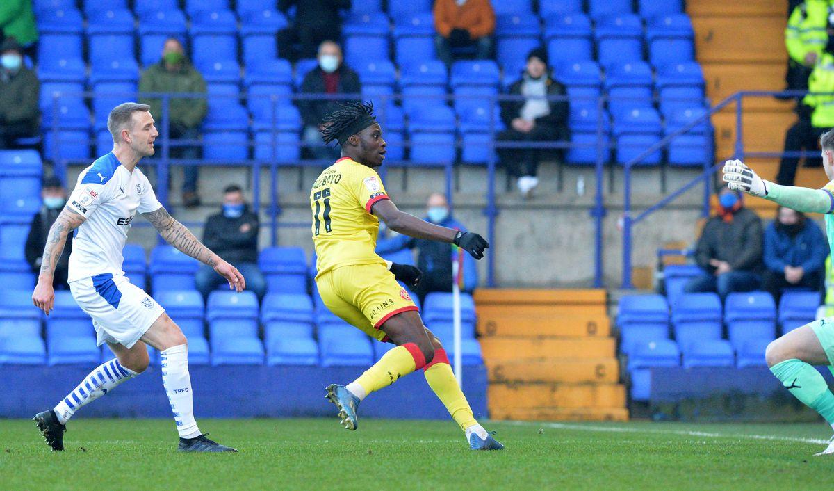 Elijah Adebayo scores..
