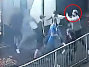Reece Cox, circled, was attacked outside The Clifton pub in Sedgley