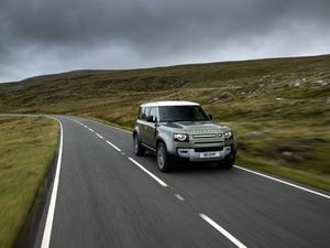 The new Land Rover Defender bucked the fall in sales for JLR