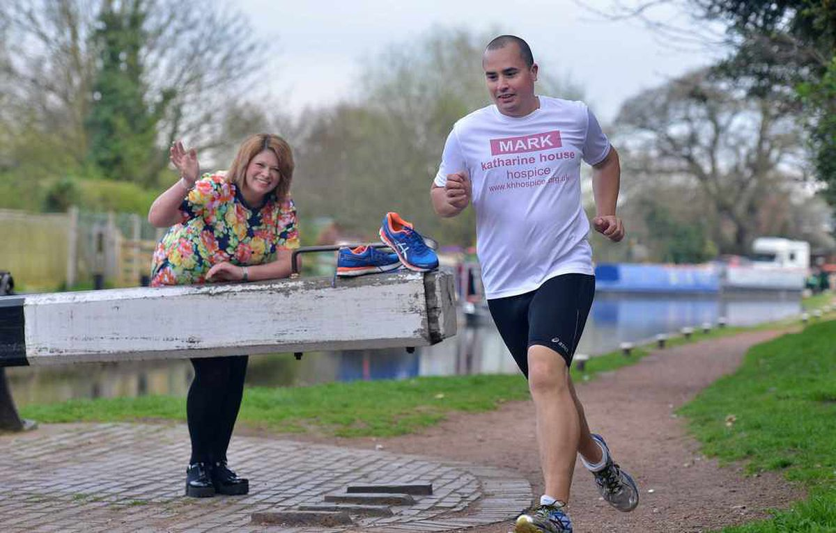Tammy and Mark Vaz next to the canal which will be one of the marathon distance runs