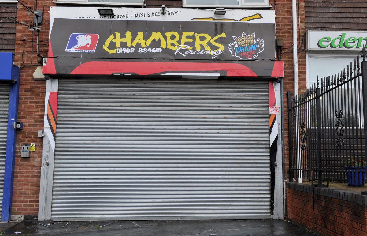 The Chambers Racing shop in Johnson Street, Bilston