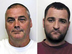 David Harrison, left, shot dead Richard Deakin in 2010. Darryl Dickens, right, was convicted of being the getaway driver