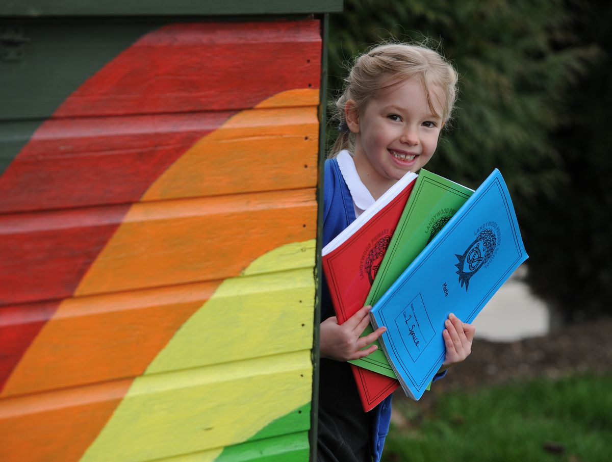 Elsie Turrell-Taylor, six, at Landywood Primary School, Great Wyrley