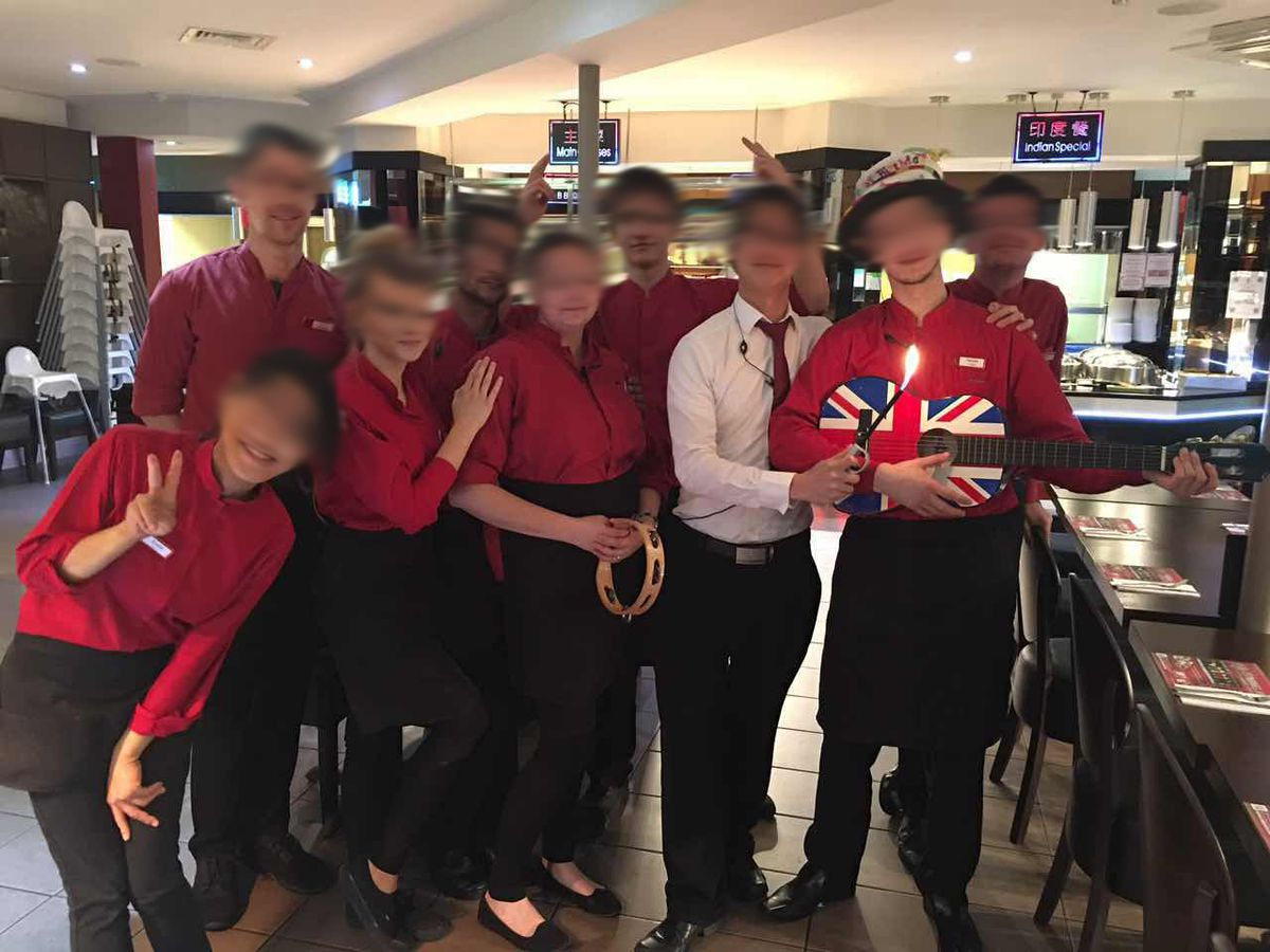 Bosses released these photos which they said showed staff enjoying parties