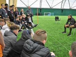 Telford students rub shoulders with Wolves stars