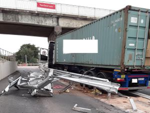 The aftermath of the crash on the M6. Photo: Highways England