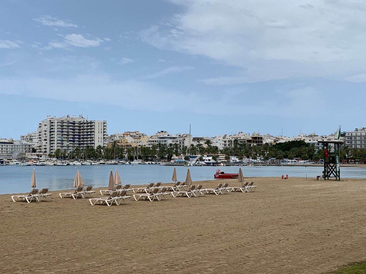 The beach in San Antonio, Ibiza.