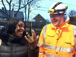 Mother's relief as rail workers find lost wedding ring on the tracks
