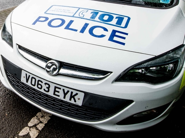 Three arrested after driver flees police with flat tyres