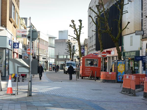 Town and city centres were empty during the first lockdown but are now busy again