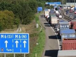 Motorway link road in Great Barr closed after woman seen on bridge