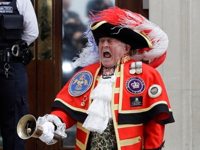 Town crier who rocked up to royal birth becomes loud-mouthed meme