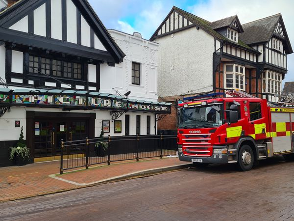 Firefighters were called to The Picture House in Stafford town centre. Photo Lucy de Blancohand.