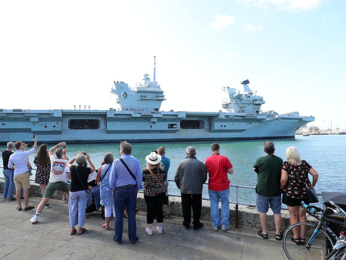 HMS Queen Elizabeth carrier returns