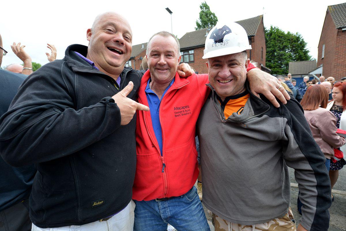 DIY SOS' Julian Perryman with Brett Bradford and Karl Horvath