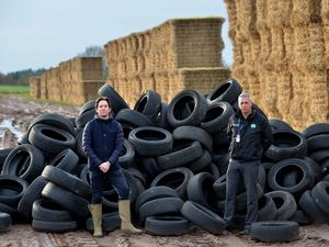 Alexander Newport and Graham Donaldson, West Mercia Police rural and business crime officer, at the site