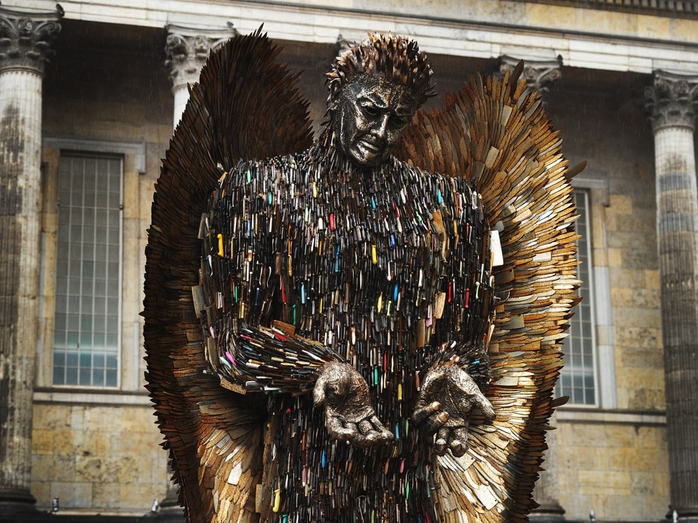 High Country Motors >> WATCH: Knife Angel sculpture in new display as 'symbol of ...