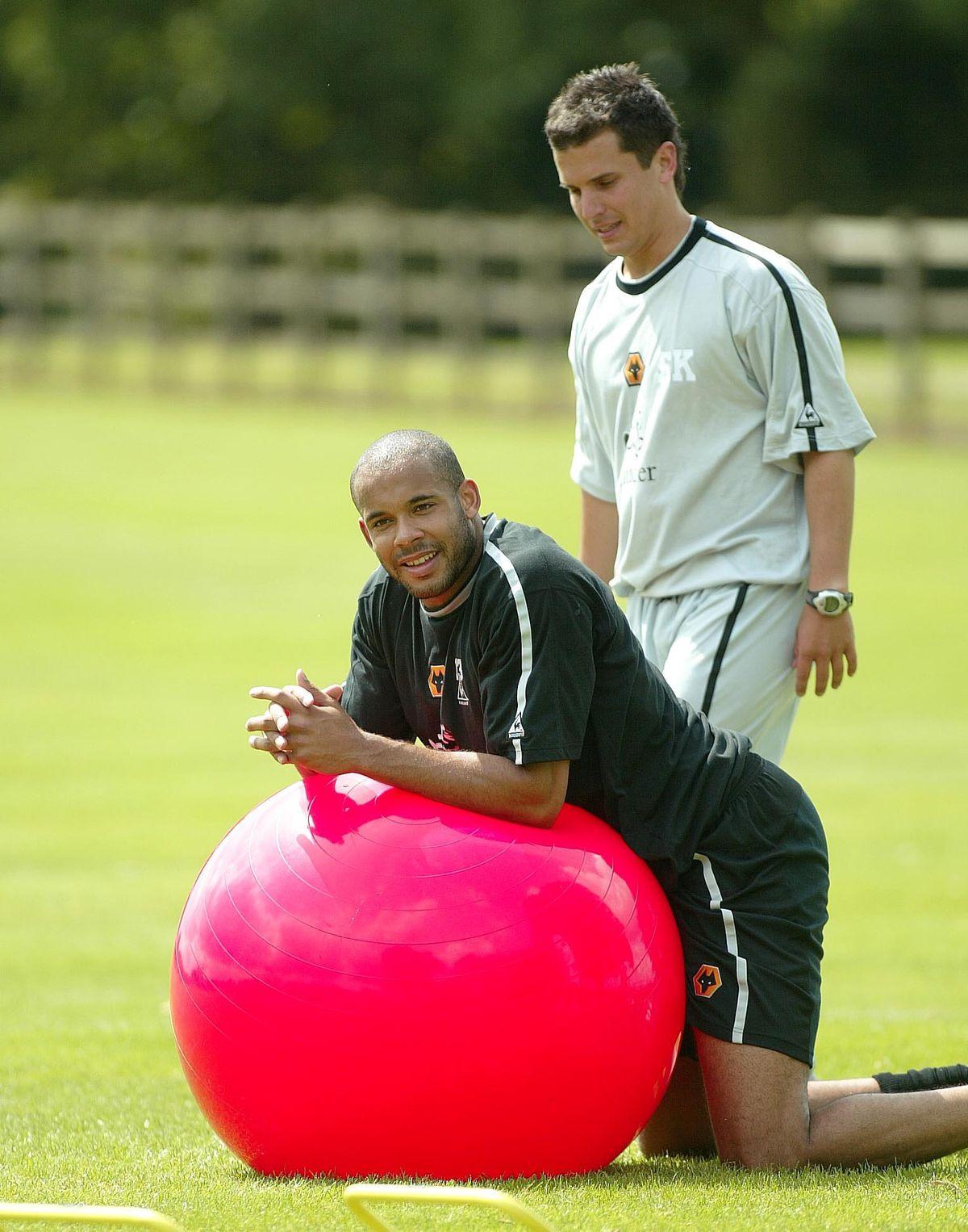 Matt Murray and assistant physiotherapist Steve Kemp