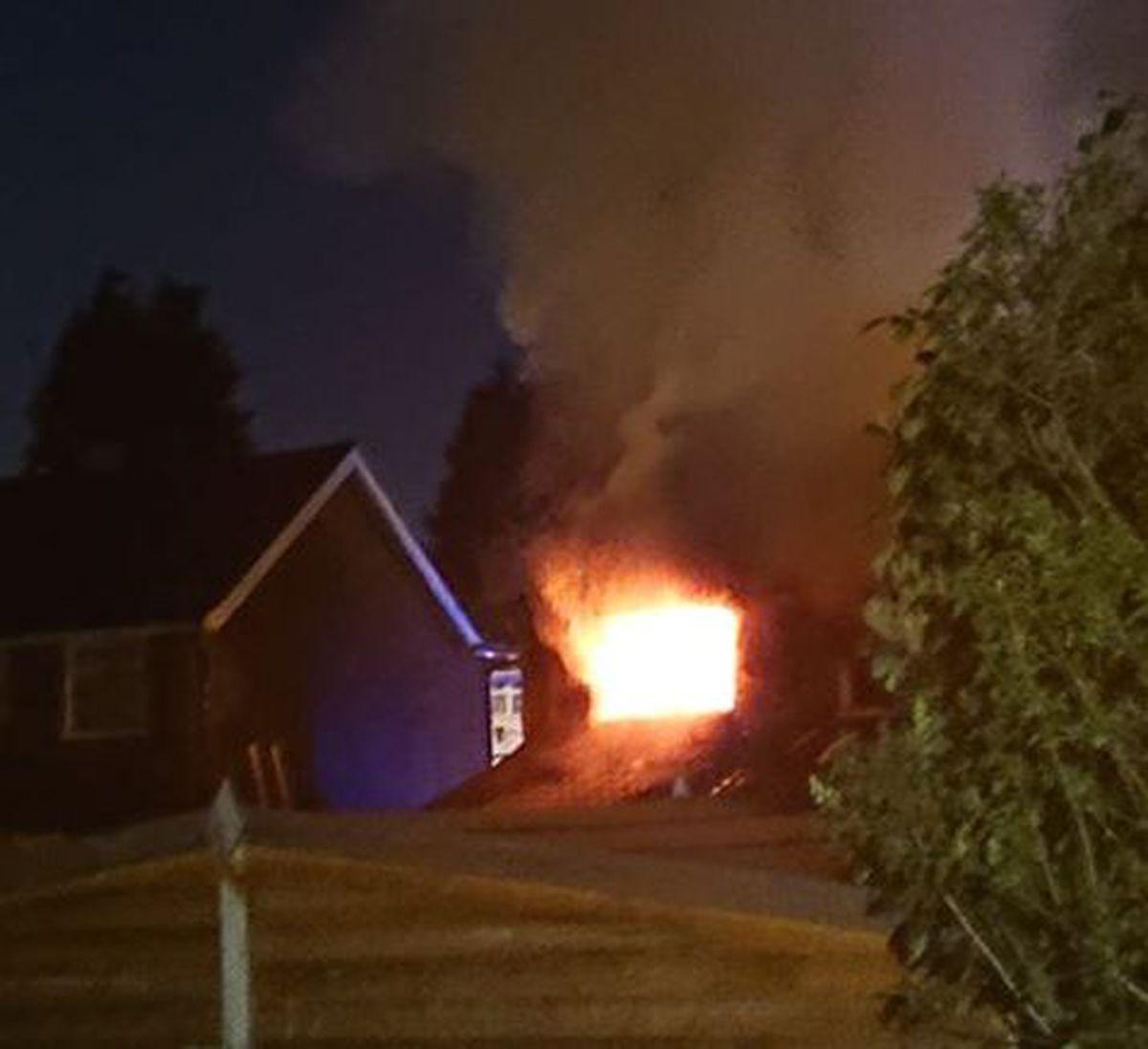 The fire in Deans Road. Photo: Karolina Domanska