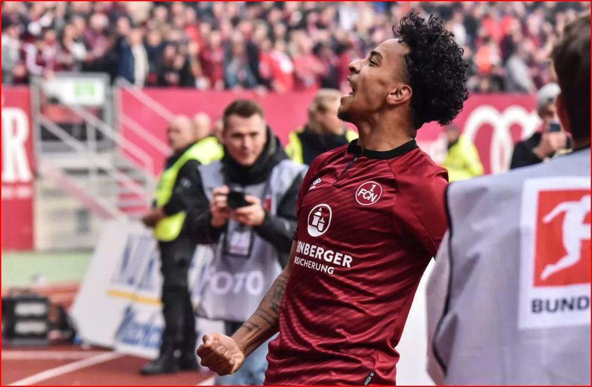 Matheus Pereira in action for Nurnburg. Pic: Bundesliga