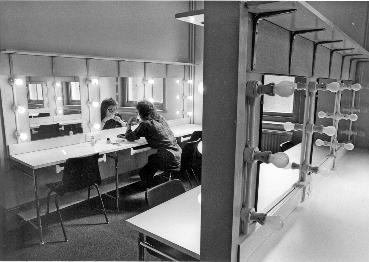 The Grand's new dressing rooms in 1983