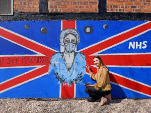 Davina Jackson painted a mural on the side of The Star pub in Penkridge thanking the NHS and marking the coronavirus pandemic