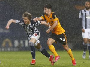 West Bromwich Albion's Conor Gallagher and Wolverhampton Wanderers' Vitinha (PA)