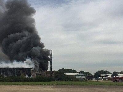 Fire crews battling blaze at Southend Airport aircraft hangar
