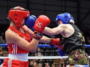 Lexi Walker (right) defeats Demi-Rose Greenidge. Picture: Andy Chubb, England Boxing.