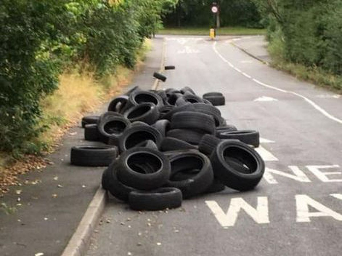 Fly-tipping in Wigmore Lane, West Bromwich. Photo: David Fisher