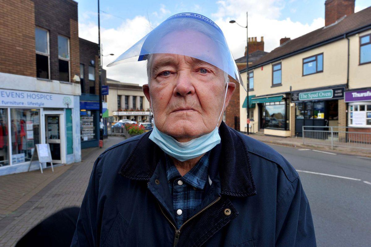 Geoff Cook in Sedgley town centre