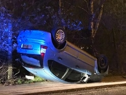 Police appeal to solve mystery of overturned car in Wolverhampton
