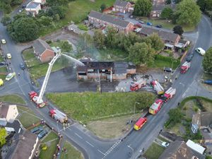 Firefighters at the scene of the blaze. Photo: West Midlands Fire Service