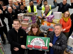 Ex-Goodyear workers donate £3k to Feed a Family This Christmas