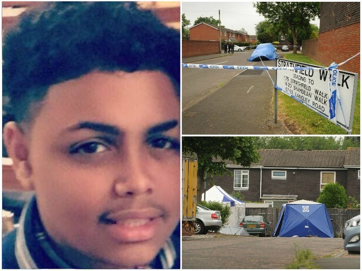 Police will visit the scene where, left, Keelan Wilson, was found stabbed in Strathfield Walk, Merry Hill