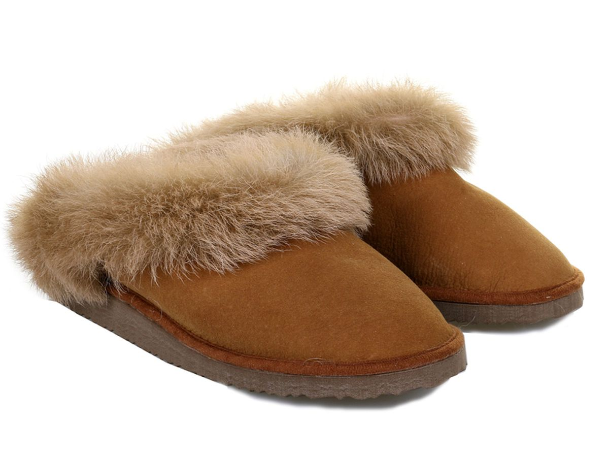 Glencroft Real Sheepskin Collared Mule with Sole