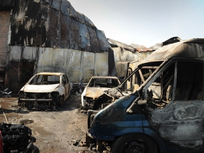 Shifnal industrial unit collapses and vehicles destroyed in severe blaze - with video and pictures