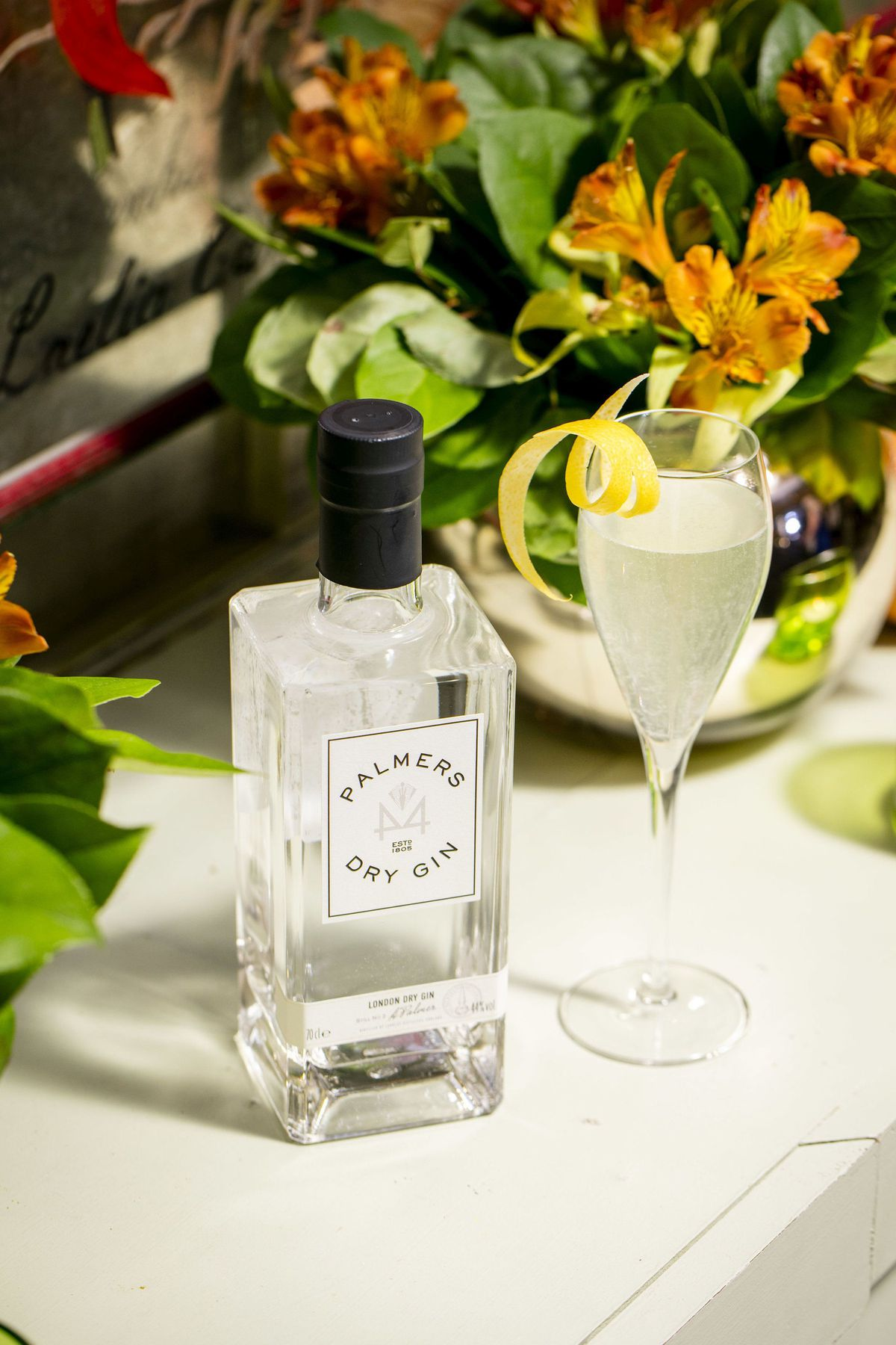 Palmers London Dry Gin which was produced in memory of Natalie's late grandmother Angela Palmer