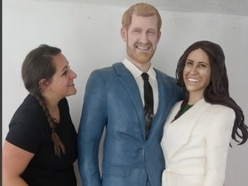 How sweet! WATCH Harry and Meghan become life-sized cake creation