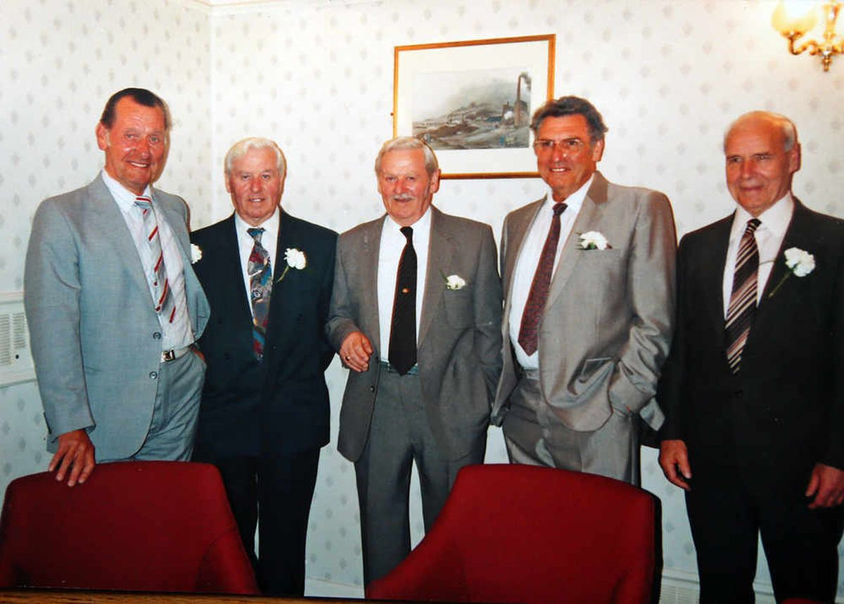 The Fletcher brothers pictured in the early 2000's. L/R Ron Fletcher, Jim Fletcher, Robert Fletcher, Gilbert Fletcher, Jack Fletcher all brothers